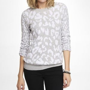 Express Animal Print Leopard Knit Sweater